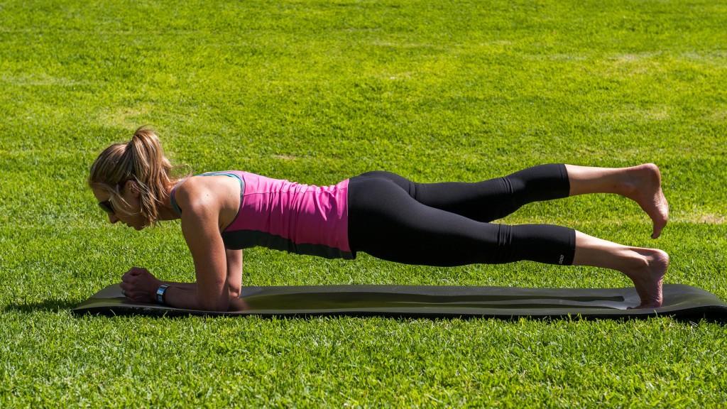 One leg Plank, ab exercise