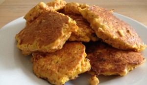 Chickpea, Feta and Carrot Fritters