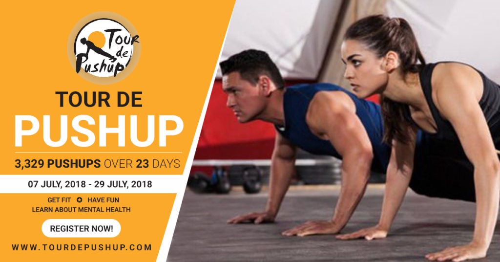 Tour de push up with Fitness Faster personal training studio