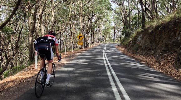Adelaide Hill Cycling Route