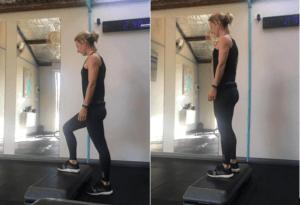 Butt blasting exercise - step ups